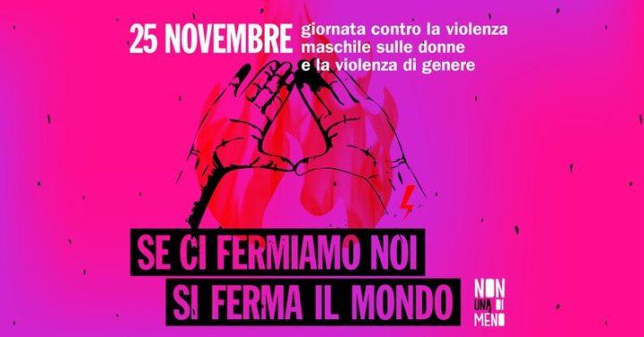 Non Una Di Meno in piazza a Bologna per la giornata mondiale contro la violenza maschile sulle donne e la violenza di genere.