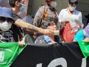 Manifestación de Agrupación de Familiares y Amigos de Asesinados en el Estallido Social