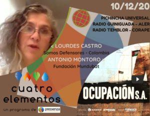 Cuatro Elementos 17/12/2020 Expolio del Sáhara Occidental y masacres en Colombia