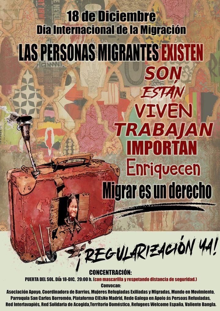18D España: Día de las personas migrantes y homenaje a Samba Martine