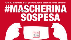 Mascherina sospesa: iniziativa di solidarietà dal 10 dicembre al 31 gennaio