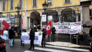 Milano, Pio Albergo Trivulzio: presidio in difesa della sanità e della giustizia