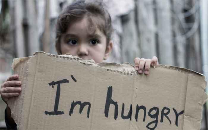 Hungernde Kinder im Imperium
