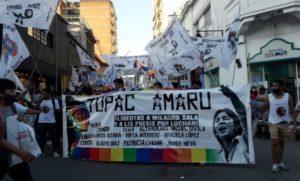 Después de cuatro años y diez meses la Tupac Amaru reorganizada se mostró en las calles jujeñas