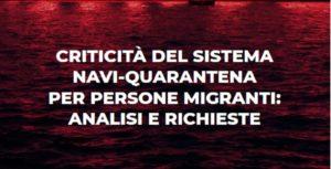 150 organizzazioni italiane e internazionali chiedono al governo italiano lo stop del sistema delle navi quarantena