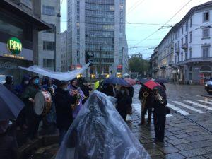 Milano: presidio al consolato francese contro la nuova legge di sécurité globale