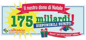 Società della cura, il nostro dono di Natale: 175 miliardi subito!!
