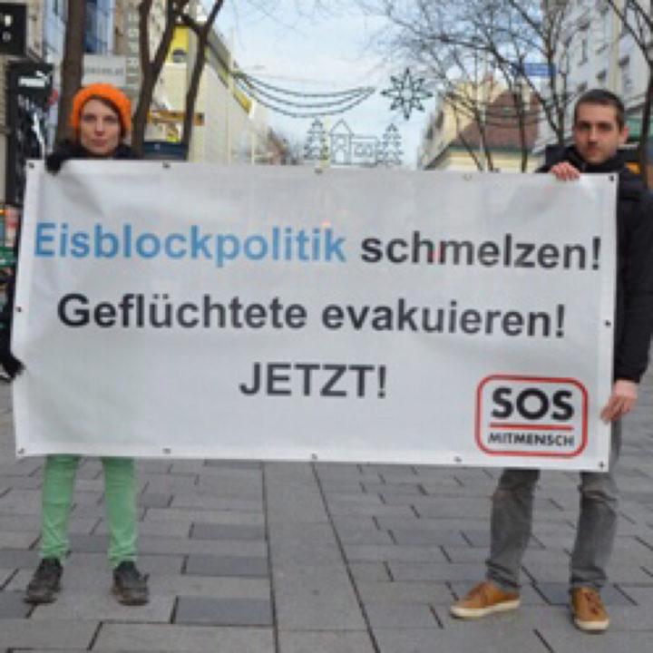 Protestaktion: Wir stellen dem Bundeskanzler einen Eisblock auf!