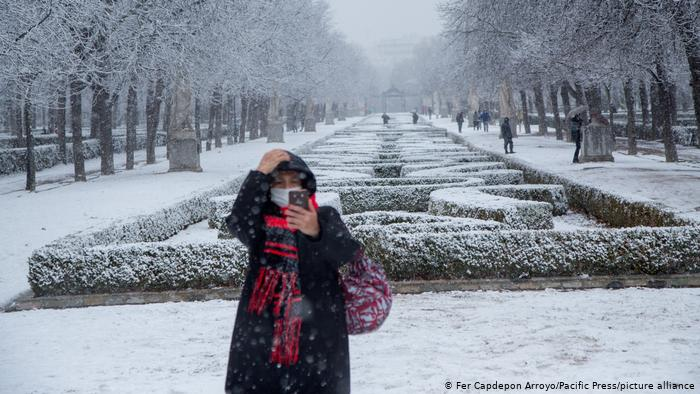 Rare snowfall hits Spain due to Storm Filomena