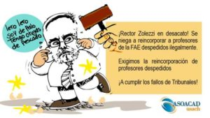 [Chile] Rector Zolezzi enfrenta a Contraloría en Tribunales por despido injustificado de profesores de la USACH