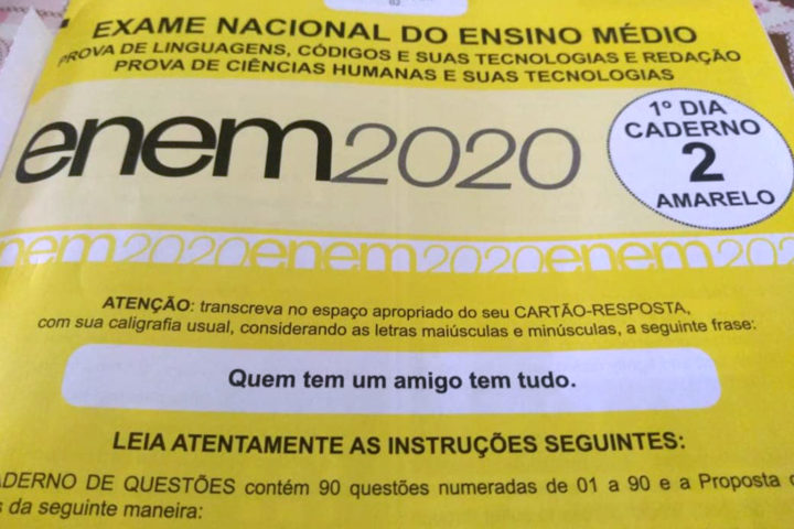 ENEM 2020 e a necessidade governamental do sucesso