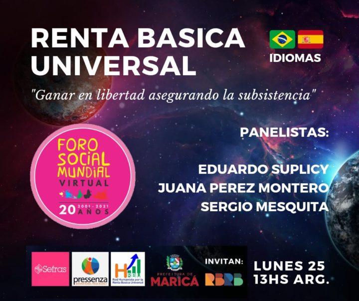 La Renta Básica Universal e Incondicional también estará presente en el Foro Social Mundial