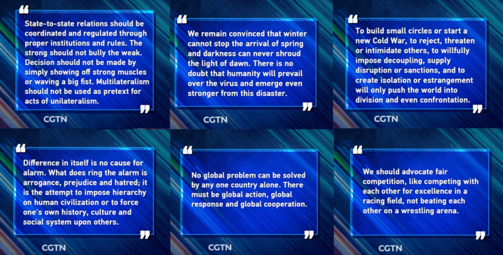 Key quotes from Xi Jinping's speech at virtual Davos Agenda event