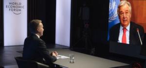 Στην ομιλία του στο Νταβός, ο επικεφαλής του ΟΗΕ τονίζει τον ρόλο του ιδιωτικού τομέα στην ανάκαμψη της πανδημίας