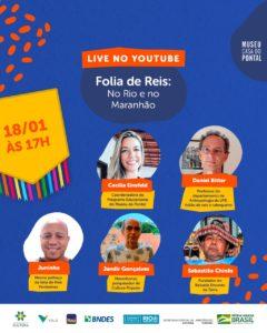"""Museu do Pontal retoma suas lives de arte e cultura popular – Live """"Folia de Reis: na cidade do Rio e no Maranhão"""""""