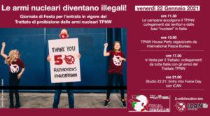 TPAN: venerdì 22 gennaio entra in vigore il Trattato di Proibizione delle Armi Nucleari