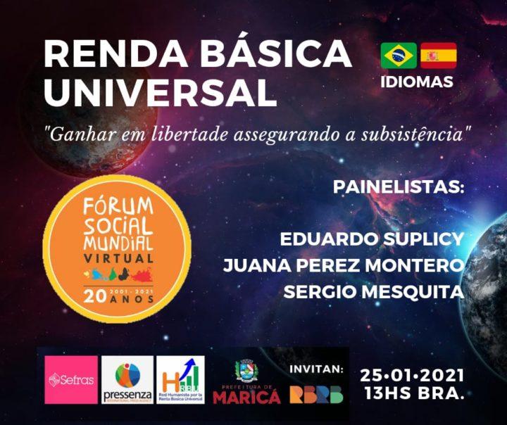 A Renda Básica Universal e Incondicional também estará presente no Fórum Social Mundial