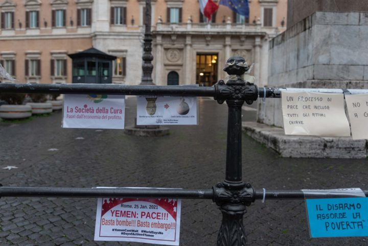 25 gennaio, giornata mondiale di azione per la pace in Yemen. Il presidio di Roma