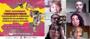 Conversaciones en el #FSM21: La soberanía digital, punto central de debate para los pueblos de América Latina y el Caribe