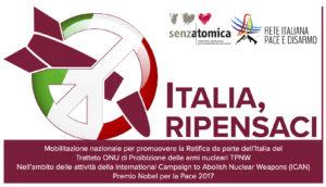 Il TPNW è fulcro del disarmo nucleare:l'Italia partecipi al percorso