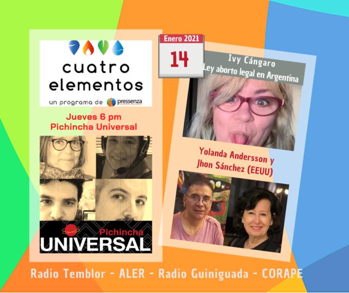 Cuatro Elementos 14/01/2021 Asalto al Capitolio de EEUU y Aborto Legal en Argentina