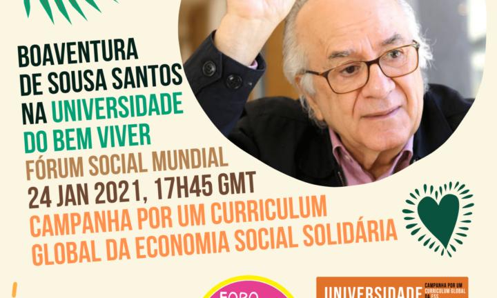 Aula inaugural da Universidade do Bem Viver, neste domingo no Fórum Social Mundial
