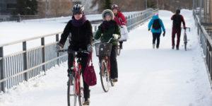 Die Stadt, in der Kinder bei minus 20 Grad Velo fahren