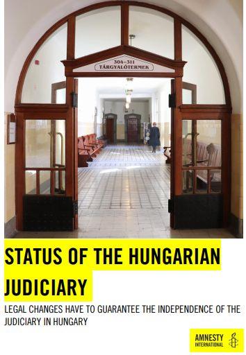 Amnesty: rapporto sullo stato del sistema giudiziario ungherese
