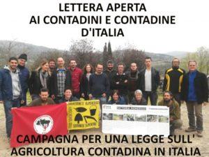 Lettera aperta ai Contadini e Contadine d'Italia
