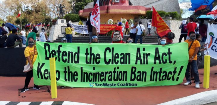 EcoWaste Coalition Calls on Senate to Keep Ban on Waste Incineration Intact