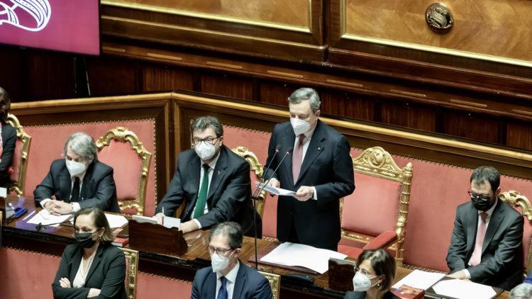 Mario Draghi discorso al Senato