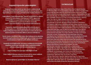 """173 gazeteciden çağrı: """"Boğaziçililer yalnız değildir!"""""""
