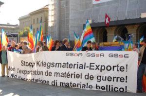 Mobilitazione contro la guerra in Yemen: le esportazioni di armi svizzere devono essere fermate!