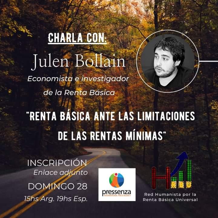 Conversatorio con Julen Bollain: la Renta Básica como solución a las carencias de las rentas mínimas