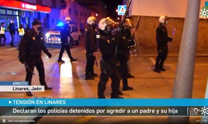 España: Denuncia contra ciertas actuaciones policiales durante las protestas en Linares