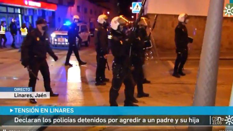 Actuación policial en Linares
