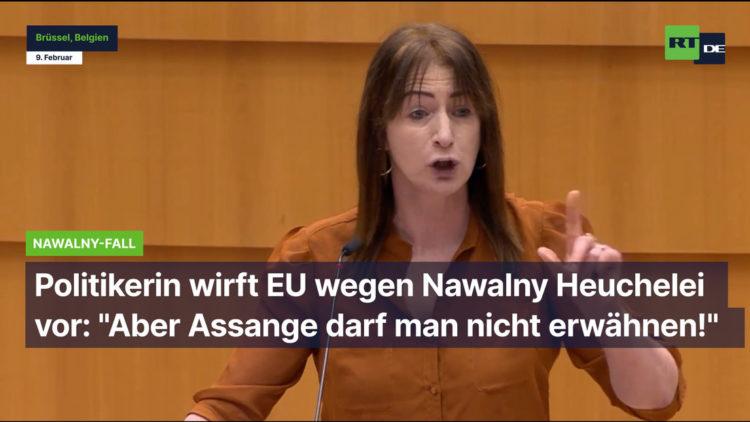 """Wutrede von EU-Politikerin wegen Nawalny: """"Aber Assange darf man nicht erwähnen!"""""""
