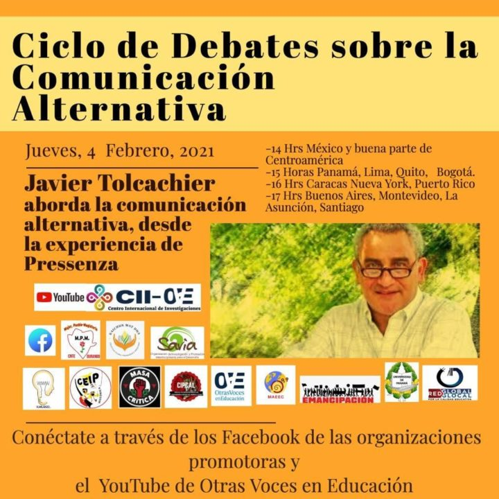 Javier Tolcachier: Alternative communication from Pressenza's experience