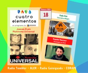 Cuatro Elementos 18/02/2021 Censura en Hungría y vacunagate en Perú