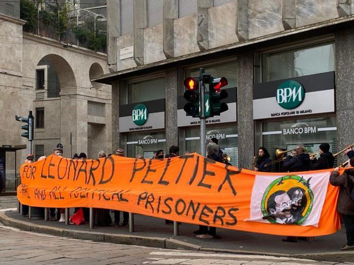 6 febbraio, davanti al consolato Usa di Milano ancora un presidio per ricordare Leonard Peltier