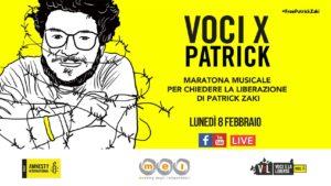 Grande successo della maratona musicale per la liberazione di Patrick Zaki