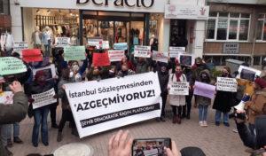 Kadınlar Trabzon, Eskişehir ve İzmir'de İstanbul Sözleşmesi için eylemdeydi
