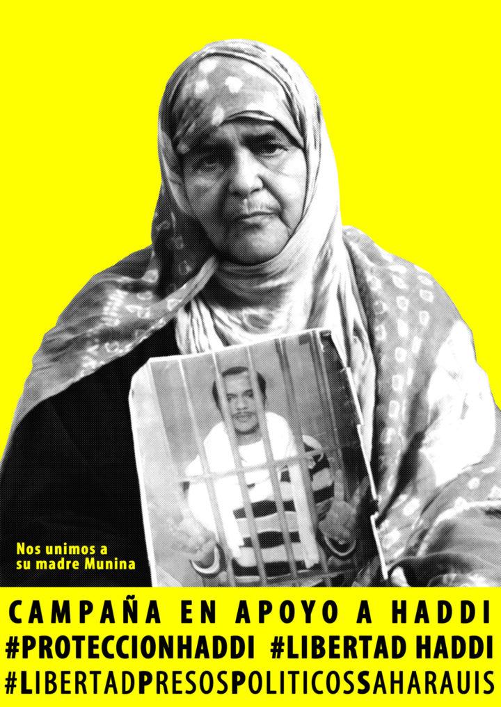 El preso saharaui Mohamed Lamin Haddi sigue en huelga de hambre y habla con su familia