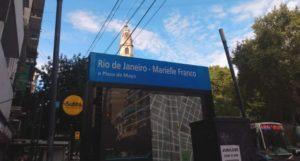 Argentina: Un homenaje a Marielle Franco en el subte porteño