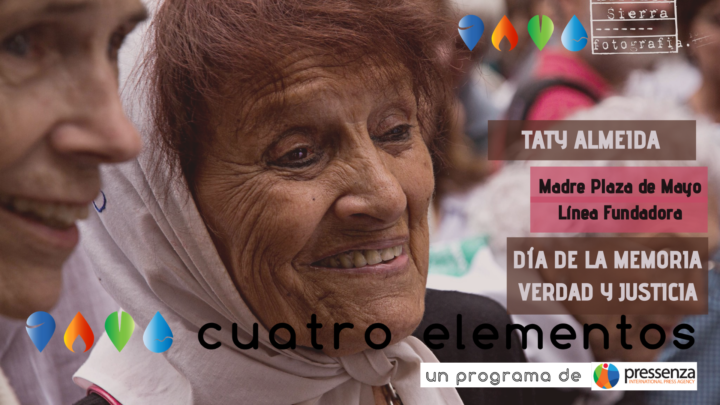 Taty Almeida delle Madri di Plaza de Mayo: «Ci hanno dimostrato che, anche quando non ci saremo più, la memoria non si perderà mai»
