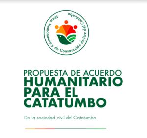 Colombia: exigen acuerdo humanitario en zona del Catatumbo