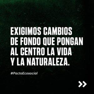 [Perú] Pacto EcoSocial: Exigimos un compromiso por la vida