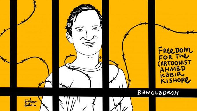 Bangladesh, rilasciato il noto disegnatore Ahmed Kabir Kishore