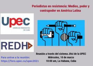 Encuentro virtual «Periodistas en resistencia: Medios, poder y contrapoder en América Latina»