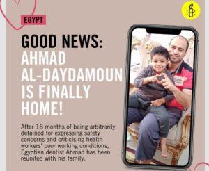Medico egiziano liberato dopo un anno e mezzo di prigione